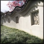 Chinese garden wall